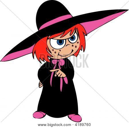 Cartoon Witch Magica