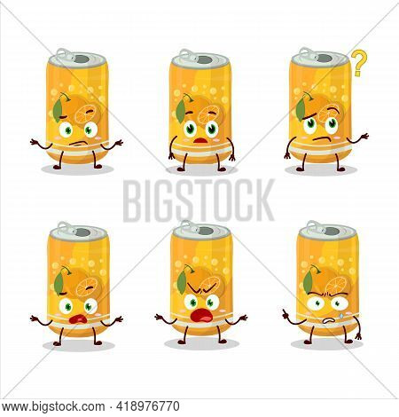 Cartoon Character Of Orange Soda Can With What Expression