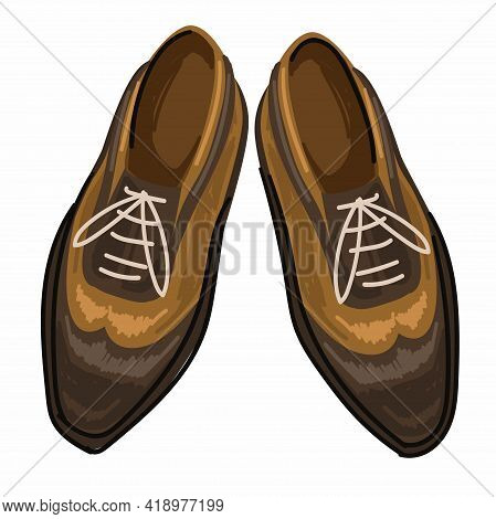 Vintage Shoes With Laces, Man Footwear Fashion