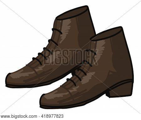 Leather Boots With Laces For Men, Fashion Trend