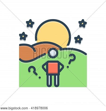 Color Illustration Icon For Anticipate Expectation Hope Prospect Expectance Expectancy