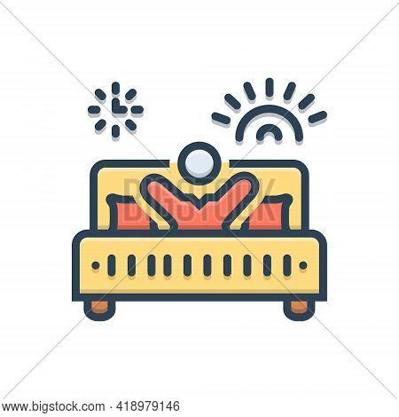 Color Illustration Icon For Avicii Awake Bed Person