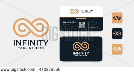 Infinity Logo Brand Identity Vector Design Inspiration Concept. Logo Can Be Used For Icon, Brand, Id