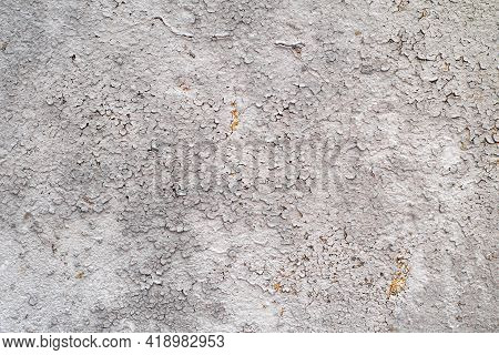 Grey Texture Of Metal Sheet.texture Of The Peeling Paint On The Sheet Iron.