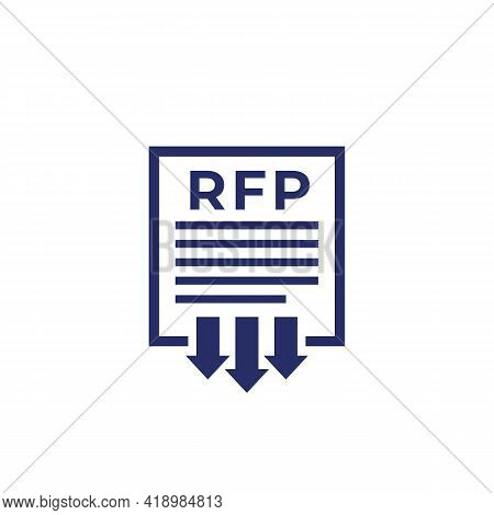 Rfp, Send Request For Proposal Icon, Vector