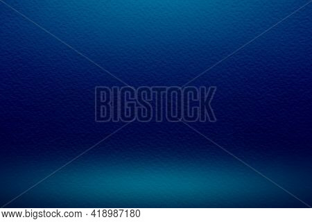 Abstract Blurred Blue Background With Neon Light Pleasant Colors, Glowing Website Pattern, Smooth Gr