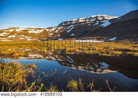 Lake On Putorana Plateau, Taimyr. Russia, Krasnoyarsk Region