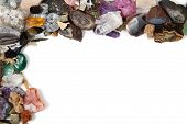 mineral collection isolated on the white background poster