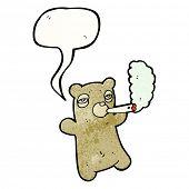 cartoon teddy smoking marijuana poster