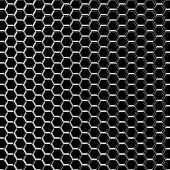 Chrome metal grid on the black background poster