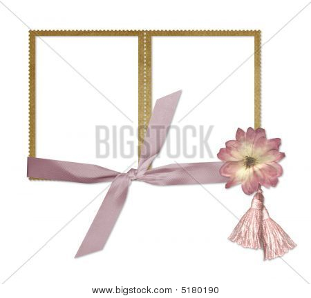 Stamp Frame With Flower