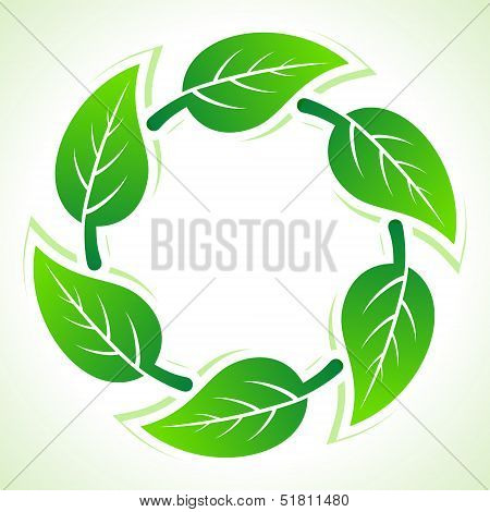 Green leaves pattern background stock vector