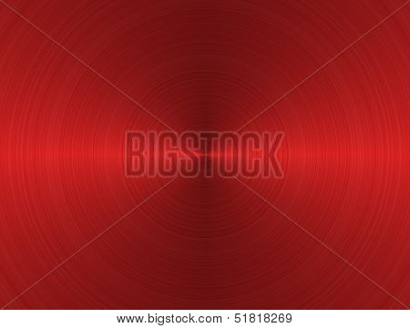 Red Metal Circle Texture Background