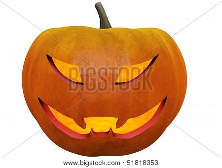 Halloween Pumpkin In 3D