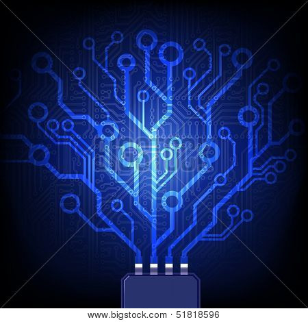 Network concept. Vector circuit board background.