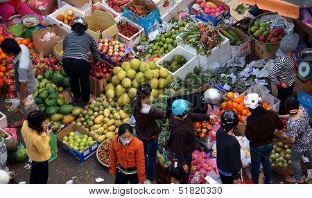 Fruit open air market/ flea market