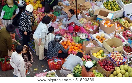 Fruits open air market/ flea market