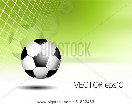 Sports background - soccer ball in net