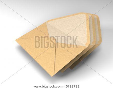 Three Envelopes For Mail