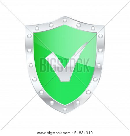 Protected Shield Safe. Vector Illustration