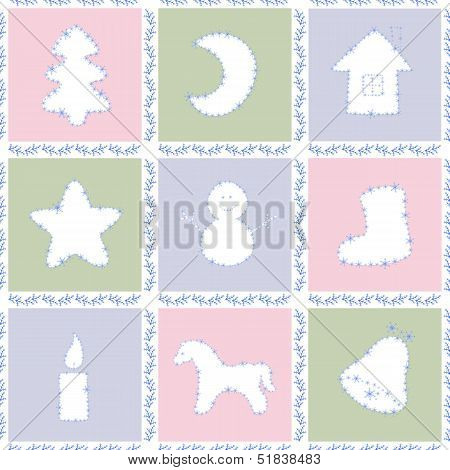 Set Of Christmas Quares