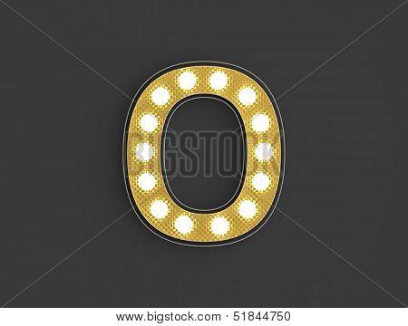 Light Vintage Number Zero