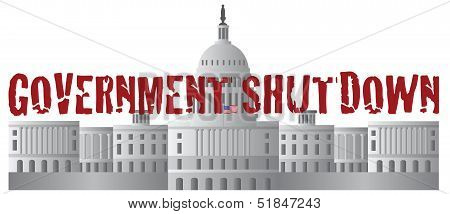 Washington Dc Capitol Government Shutdown Text