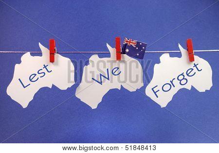Lest We Forget Australia bunting