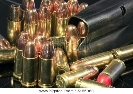 Various Bullets And Magazine