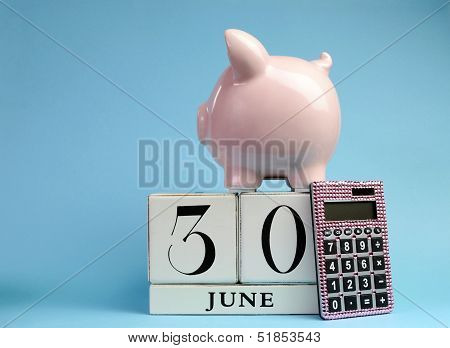 Calendar Date For End Of Financial Year, 30 June, For Australian Tax Year Or Retail Stocktake Sales,