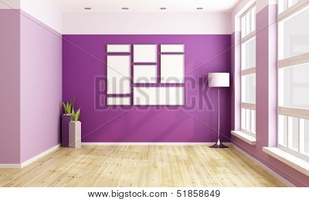 Empty Purple Room