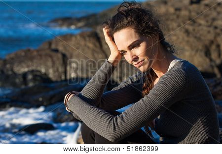 Sad Woman Deep In Thought
