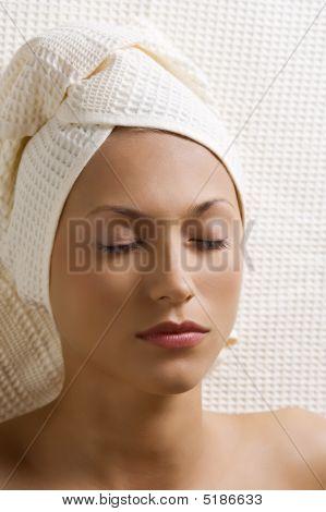 Sleeping Woman In Spa