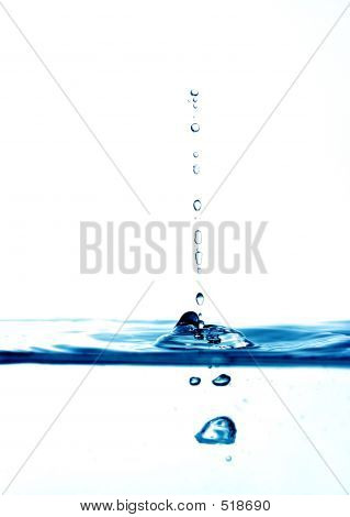high key blue water drops poster