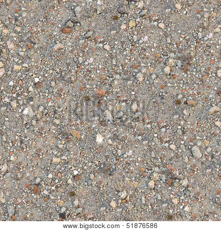 Seamless Texture of Dusty Soil with Debris.