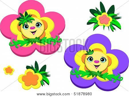 Happy Flower Faces