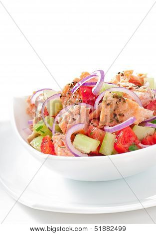 Salad Sheppard c Norwegian salmon