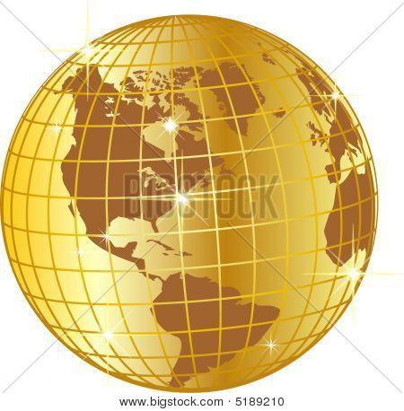 Gitter globe USA
