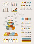 Infographics elements. Folder with diagrams, speech bubbles and graphs. poster
