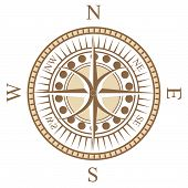 a special design of  the compass rose poster