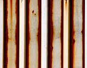 Grunge Corrugated Steel Sheet Covered In Rust Vertical poster