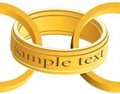 Seamless gold rings. A vector. Without mesh. poster