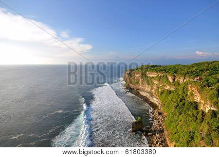 Big Cliffs At Uluwatu, Bali Indonesia