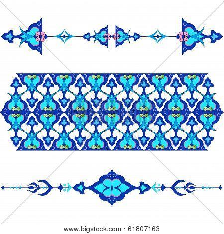Blue Oriental Ottoman Design Twenty-five