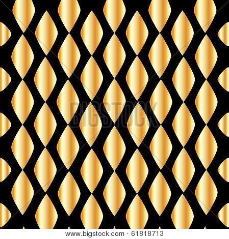 Seamless golden grid background