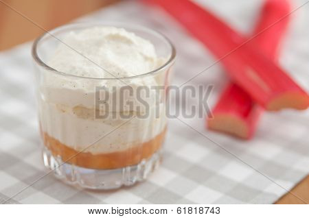 Layered Rhubarb Creme Dessert