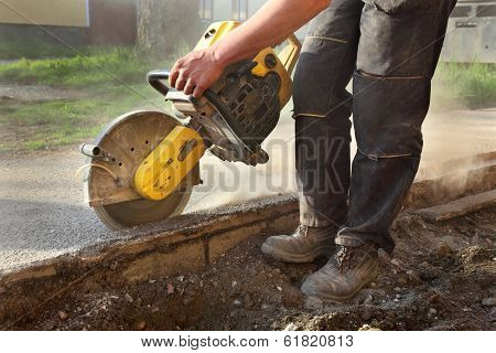 Construction Site, Worker And Tool
