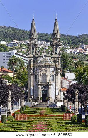 Nossa Senhora da Consolacao e dos Santos Passos Church (aka Sao Gualter Church) in Guimaraes, Portugal. Unesco World Heritage Site. poster