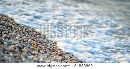 Skim On Beach Stone
