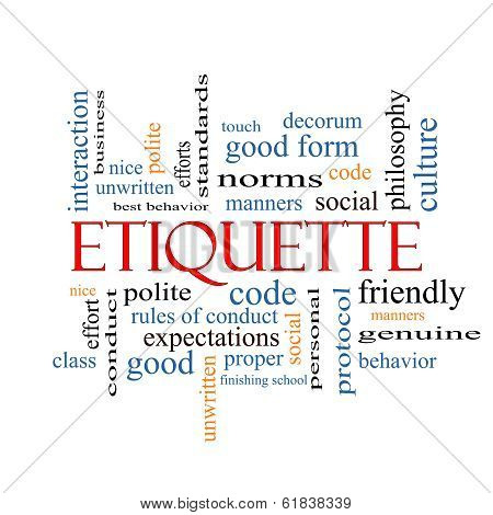Etiquette Word Cloud Concept